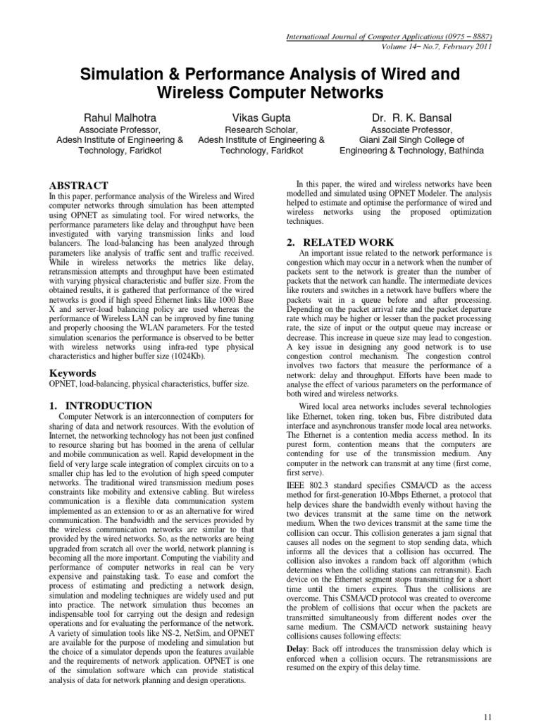 Opnet Research | Wireless Lan | Load Balancing (Computing)