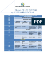 Cronograma de Los Eventos Que Podras Participar