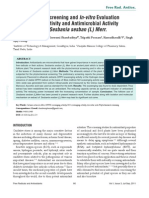 Phytochemical Screening and in-Vitro Evaluation