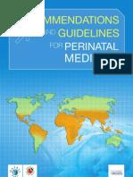 Recommendations Perinatal Medicine WAPM2007