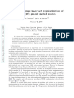 M.M.Deminov and A.A.Slavnov- A practical gauge invariant regularization of the SO(10) grand unified model