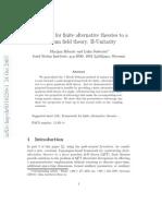 Marijan Ribaric and Luka  Sustersic- Framework for finite alternative theories to a quantum field theory. II-Unitarity