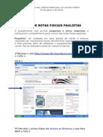 Enviando Notas Fiscais Paulistas