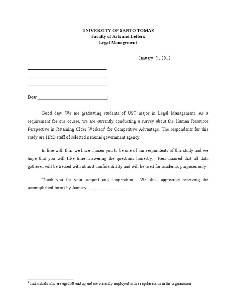 Letter for thesis respondents spiritdancerdesigns Images
