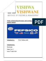 Study of Working Capital on Pepsico.