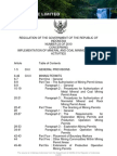 Mining Law of Indonesia - Revison PP23-2010- English Version