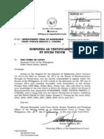 Subpoena SC Clerk of Court
