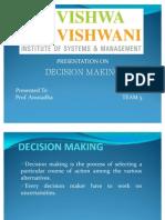 DECISION MAKING Team Presentation