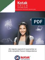 Kotak Child Future Plan - Brochure - Final