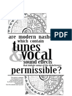 Are Modern Nasheeds which contain Tunes and Vocal Sound Effects Permissible?