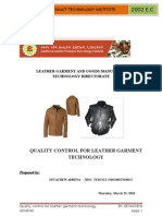 Quality Control Manual for Leather Garment Technology