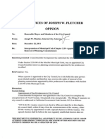 Menifee City Attorney Joseph Fletcher's legal analysis about the replacement of Planning Commissioner Marc Miller