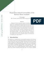 S. Krasnikov- Evaporation induced traversability of the Einstein–Rosen wormhole