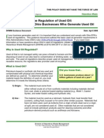 Used Oil Generators Guidance