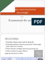 urina examen