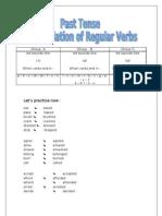 Past Tense - Pronunciation of  -ed in Regular Verbs