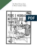 Pesos e Medidas No Tempo Dos Tropeiros - DINIZ,JMF;VILLELA,LMC 2007