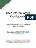 SAP Internal order Configuration