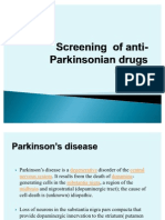 Screening of Anti-parkinsonian Drugs