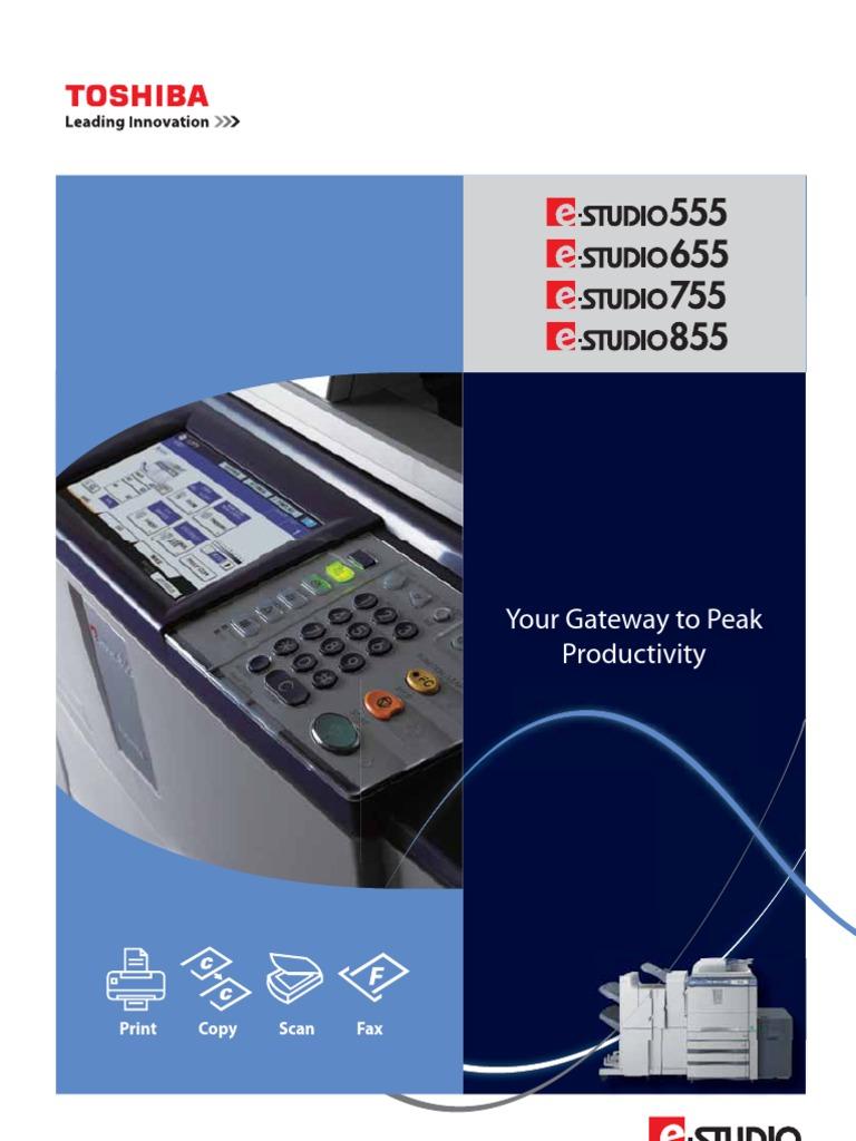 TOSHIBA e Studio 555/655/755/855 Brochure | Image Scanner | Fax