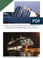 Costa Concordia run aground