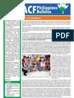 ACF-Philippines Newsletter 01