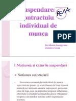 Suspend Area Contractului Individual de Munca