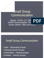 Lecture 12 - Small Group Communication