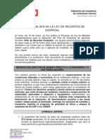 PRIMER ANÁLISIS DE LA LEY DE RECORTES DE COSPEDAL