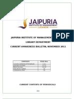 Current Awareness Bulletin Nov. 2011