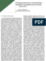 BECERRA, Eduardo- Proceso de la novela hispanoamericana contemporánea (2006)