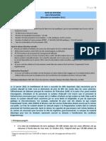 NOTE DE SYNTHÈSE  SUR L'ÉDUCATION (Situation en novembre 2011)