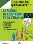 Programme Forum de l'Entreprise Et de l'Emploi. Marcq. 2012