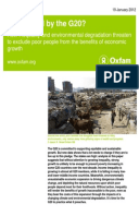 Left Behind by the G20? How inequality and environmental degradation threaten to exclude poor people from the benefits of economic growth