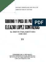 Tomo 21. Gobierno y época del Presidente Eleazar López Contreras