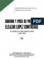 Tomo 22. Gobierno y época del presidente Eleazar López Contreras