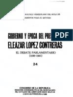 Tomo 24. Gobierno y época del presidente Eleazar López Contreras