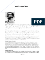 Subhash Chandra Bose- Biography