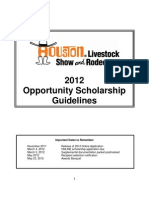 2012 Opportunity Scholarship Guidelines Rodeo Houston