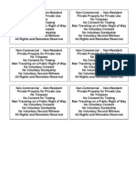 Car-Notices-Private Property Notices 6 Each