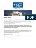 Elective Courses Colleges Of Law California