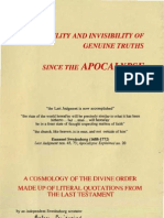 GENUINE TRUTHS since THE APOCALYPSE--pseudonymous--The Independant Swedenborg Scrutator 1999