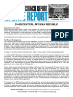 Update Report 21 September 2007_Chad CAR Security Council