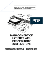 US Army Medical Course MD0542-200 - Management of Patients With Respiratory Dysfunctions