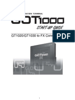 GOT1000 Startup Guide (GT10-FX)