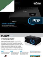 InFocus IN2100 Series Datasheet en 7