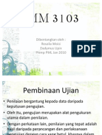 BMM 3105 Pembinaan Ujian