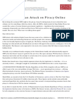 David Carr. The Danger of an Attack on Piracy Online - NYTimes. 2012.