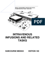 US Army Medical Course MD0553-100 - Intravenous Infusions and Related Tasks