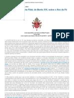 Carta Apostolica - Porta Fide de Bento XVI sobre o Ano da Fé